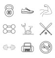 preparation process icons set outline style vector image vector image
