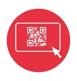 qr code and arrow pointer icon image vector image