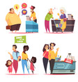 queue people design concept vector image vector image