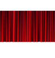 red closed curtain in a theater or ceremony for vector image vector image