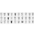 reusable eco friendly glasses doodle set vector image