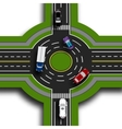 Road infographics Top view 3d perspective Road vector image vector image