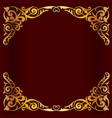 royal golden frame for design vector image vector image