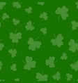 seamless green shamrock clover leaf pattern vector image vector image