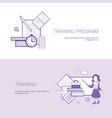 set of training program banners business concept vector image