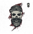 skull character with blood stains cap vintage vector image vector image