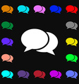 Speech bubbles icon sign Lots of colorful symbols vector image vector image