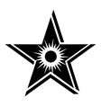 Star sun icon simple style vector image vector image