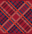 tartan seamless diagonal texture in red and blue vector image vector image