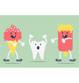 teeth problem from ice cream vector image vector image