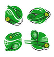 tennis sport club racket and ball icons vector image vector image