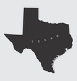 texas silhouette map vector image vector image
