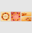 thanksgiving day festival banner set realistic vector image