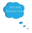 think positive vector image