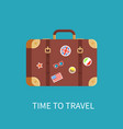 time to travel banner luggage vector image vector image