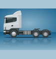 truck tractor or semi-trailer truck cargo vector image vector image