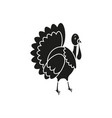 turkey icon of black thanksgiving of the day vector image vector image