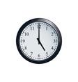 wall clock set at 5 o clock vector image vector image