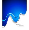 wavy background in blue color vector image vector image