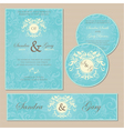 wedding cards blue vector image vector image
