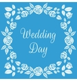 Wedding Day Floral Frame with Beautiful Roses vector image vector image