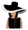 Woman in hat vector image vector image