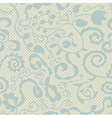 Spring lacy seamless floral pattern vector image