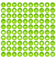 100 mens team icons set green circle vector image vector image