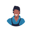 african master or repairman face avatar mechanic vector image vector image