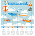 Air transport infographics elements vector image