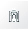 airport security icon line symbol premium quality vector image