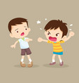angry boy shouting friend vector image vector image