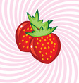 Appetizing strawberry vector image