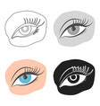applied mascara icon in cartoon style isolated on vector image