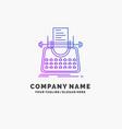 article blog story typewriter writer purple vector image