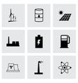 black energetics icons set vector image