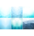 Blue abstract geometric backgrounds vector image