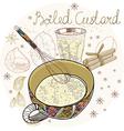 Boiled custard vector image