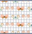 butterfly checkered pastel colored baby seamless vector image