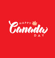 canada day handwritten red lettering logo vector image