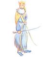 character elf fairytale character vector image