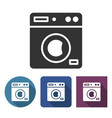 clothes washer icon in different variants with vector image vector image