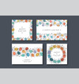 collection of holiday greeting cards happy easter vector image vector image