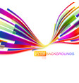 colorful shapes motion scene on a white vector image vector image