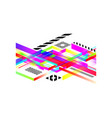 corporate futuristic design abstract geometric vector image vector image
