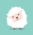 cute cartoon little sheep flat design vector image vector image