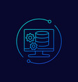 database maintenance icon linear design vector image