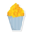 delicious pop corn isolated icon vector image