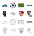 design soccer and gear logo collection vector image vector image