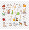 doodle christmas element sketch vector image vector image